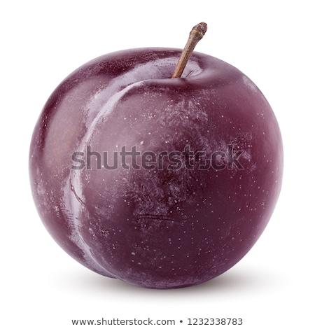 zoete · pruim · geïsoleerd · witte · vruchten - stockfoto © constantinhurghea