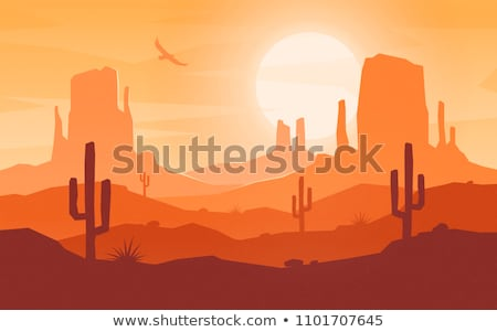 Forró sivatag nappal keleti égbolt természet Stock fotó © tracer