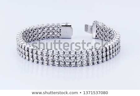 złoty · bransoletka · diamentów · czarny · moda · tle - zdjęcia stock © kirs-ua