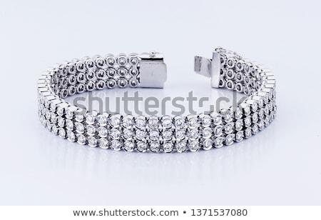 dorado · pulsera · diamantes · negro · moda · fondo - foto stock © kirs-ua