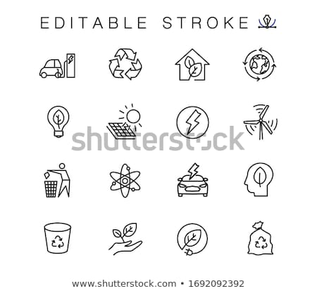 Home Green Vector Icon Design Stock photo © rizwanali3d