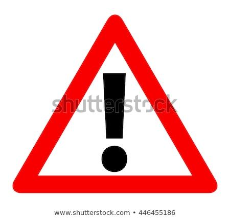 Alert Sign Red Vector Icon Design Stock photo © rizwanali3d