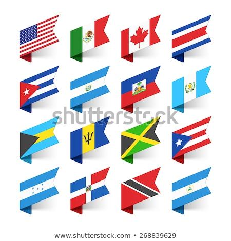 Kanada Dominik Cumhuriyeti bayraklar bilmece yalıtılmış beyaz Stok fotoğraf © Istanbul2009