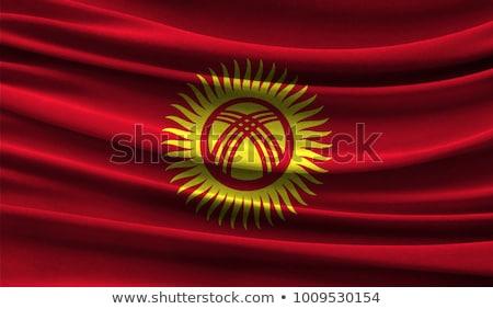 Turcja Kirgistan flagi puzzle odizolowany biały Zdjęcia stock © Istanbul2009