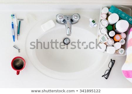 Elderly Domestic Bathroom Sink with Medicines Stock photo © ozgur