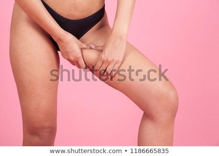 mujer · grasa · alrededor · ombligo - foto stock © master1305