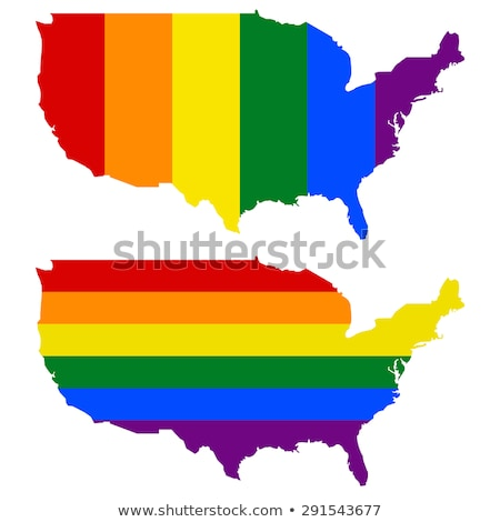 США гей карта стране гордость флаг Сток-фото © tony4urban