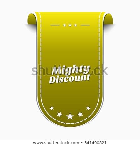 Mighty Discount Yellow Vector Icon Design Stock photo © rizwanali3d