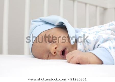 happy caucasian baby boy with his mouth open Stock photo © vkraskouski