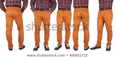 orange trousers pants Stock photo © shutswis
