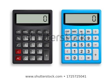 Klasszikus számológép kicsi izolált fehér üzlet Stock fotó © Alsos