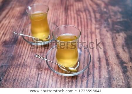 Ital fűszer autentikus török szemüveg forró ital Stock fotó © dariazu