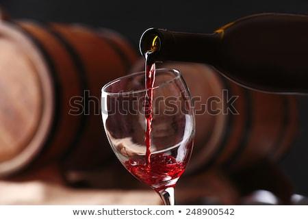 Pur verre ensemble vin réflexion bar Photo stock © sebikus