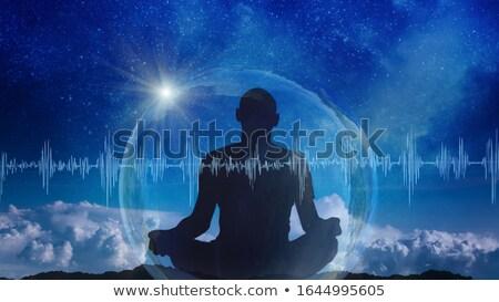 медитации музыку мирный удовольствие человека спортивных Сток-фото © kentoh