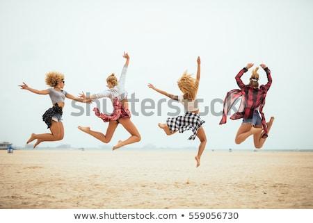 Summer vacation woman having fun on beach Stock photo © Maridav