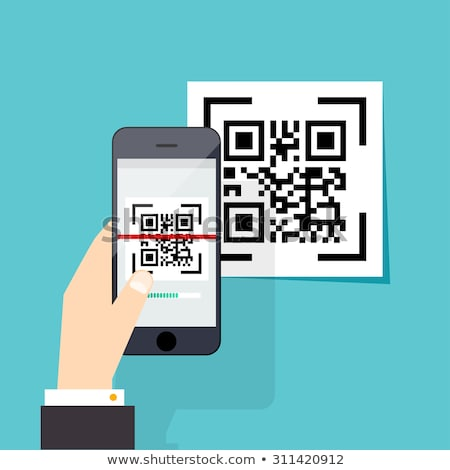 Hand with smartphone taking a QR code Stock photo © Winner