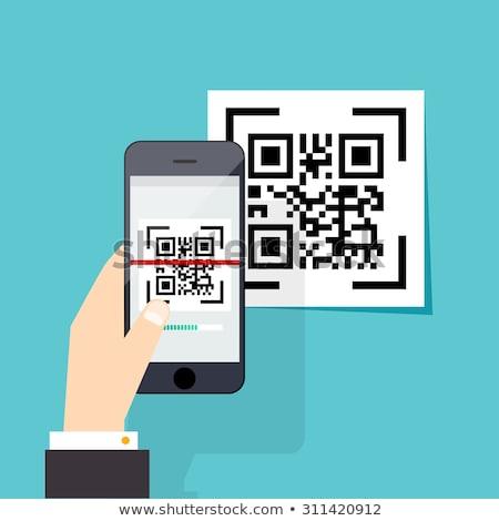 kéz · vonalkód · izolált · fehér · üzlet · internet - stock fotó © winner