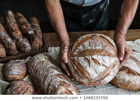 Választék friss kenyér tekercsek étel doboz Stock fotó © Digifoodstock