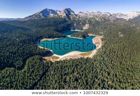 Siyah göl park dağlar manzara Karadağ Stok fotoğraf © Steffus