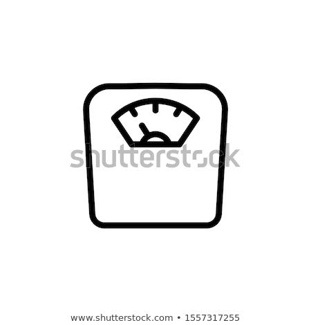 весы изолированный белый пластиковых веса Сток-фото © Digifoodstock