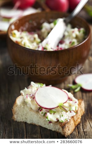Bread with butter and radish Stock photo © Digifoodstock