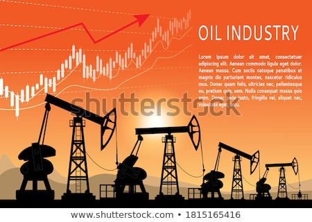 The oil industry, pumps, trade and profit. Stock photo © Filata