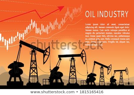 Нефтяная промышленность торговли прибыль графа цен Сток-фото © Filata