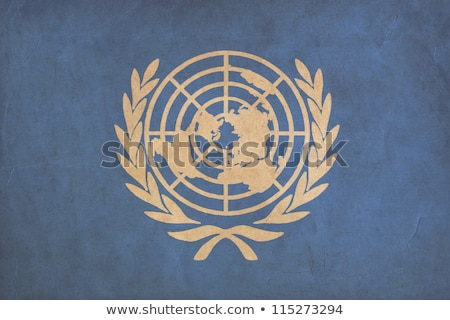Grunge United Nations flag, parchment paper texture. Stock photo © photocreo