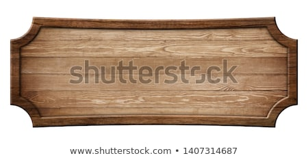 Empty wooden signboards Stock photo © bluering