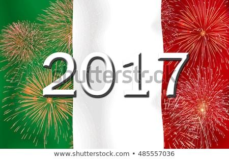 Włochy · banderą · tekstury · papieru · starych · papieru - zdjęcia stock © imaster