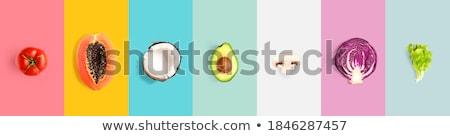 veganistisch · menu · illustratie · voedsel · gezondheid · groene - stockfoto © lightsource