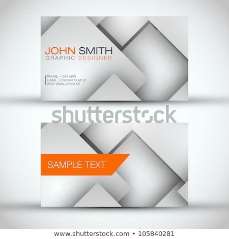 3d business cube orange white Stock photo © dariusl