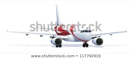 Nauwkeurig vliegtuig illustratie vliegtuig technologie reizen Stockfoto © bluering