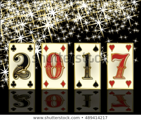 New 2017 Year casino background with poker elements, vector illustration Stock photo © carodi