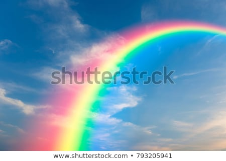 a rainbow in the sky stock photo © bluering