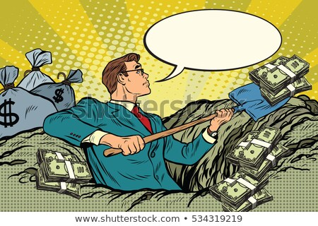 üzletember · gazdag · férfi · pénz · rajz · illusztráció - stock fotó © studiostoks