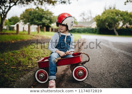 Piros vagon közelkép terv autó gyermek Stock fotó © bluering