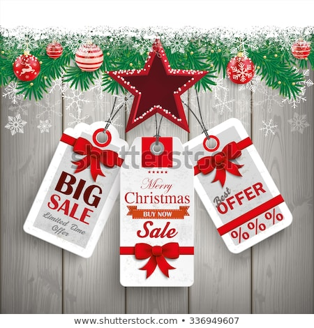 Natale coprire prezzo adesivo eps 10 Foto d'archivio © beholdereye