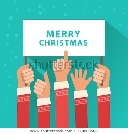 man giving the finger and text merry christmas stock photo © nito