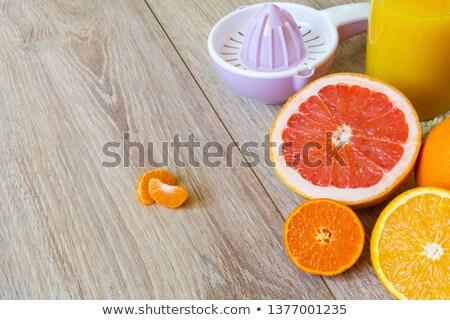 Inteiro laranja cítrico isolado branco Foto stock © sarahdoow