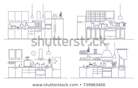 кухне комнату электронных иллюстрация Сток-фото © bluering