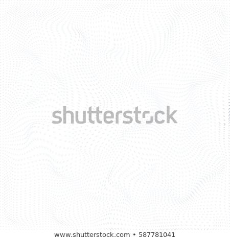 Particelle superficie vettore onde bianco decorazione Foto d'archivio © TRIKONA
