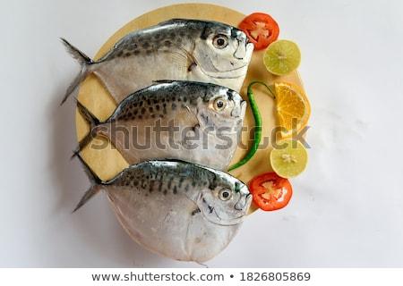 Borotva nyers hal piac háttér ázsiai Stock fotó © Mikko