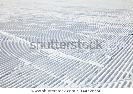 Groomed empty ski track, corduroy snow texture Stock photo © stevanovicigor