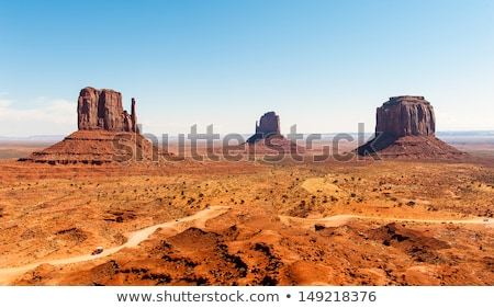 famous butte in monument valley arizona stock photo © meinzahn