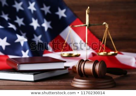 Juridische rechter code symbolen achtergrond witte Stockfoto © zolnierek