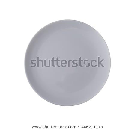 plate with grey rim Stock photo © Digifoodstock