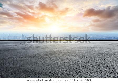Rijden lege weg hemel Stockfoto © ssuaphoto