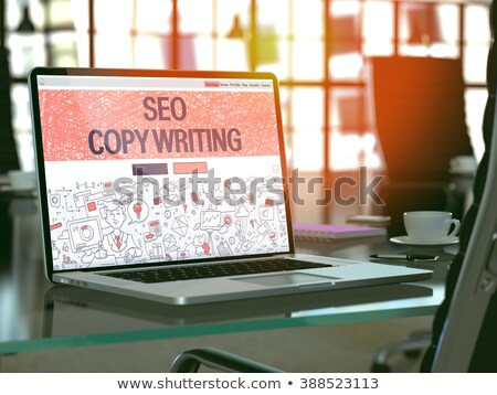 Laptop Screen with Copywriting Concept. 3D Render. Stock photo © tashatuvango