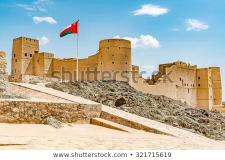 Оман флаг карта мира 3d иллюстрации баннер Сток-фото © Harlekino